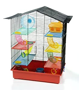 Amazon.com : Critter XL Very Large Six Level Hamster Cage : Birdcages : Pet Supplies