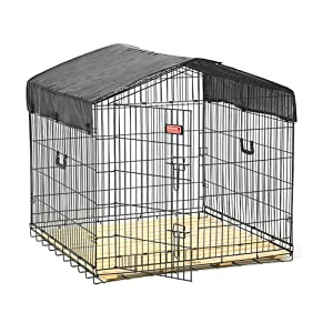Jewett Cameron Lucky Dog Travel Dog Kennel, Steel, Large