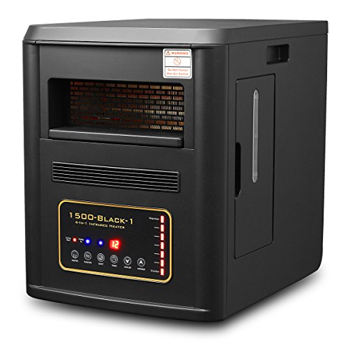 1500W Quartz Infrared Heater Humidifier Plasma Inverter Air purifier XPD-1500BLK (Xtreme Power Quartz Heater compare prices)