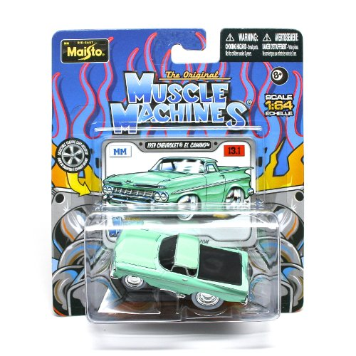 1959 Chevrolet El Camino (Green) * The Original Muscle Machines * Series 13 Maisto 1:64 Scale Die-Cast Vehicle Collection
