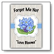 Forget Me Not Seed Favors