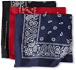 Levi's Men's 3 Piece Bandana Set, Bla...
