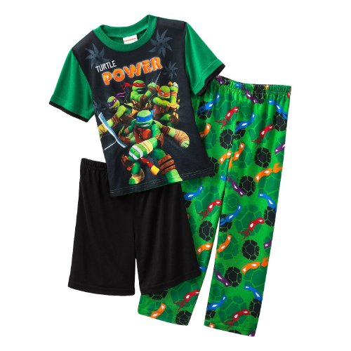Nickelodeon Little Boys Ninja Turtles 3 Piece Pajama Set (6) front-1049323