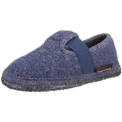 Haflinger Joschi 621002, Unisex - Kinder Hausschuhe, Blau (jeans 72), EU 37