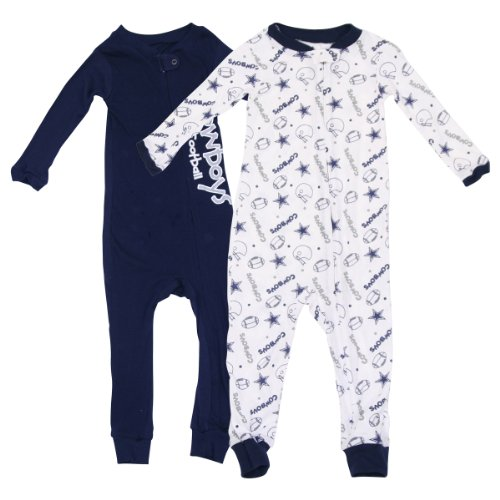 Dallas Cowboys Baby Fan Gear Footless Sleeper 2 Pack