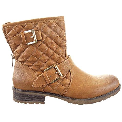 Sopily - Chaussure Mode Bottine Cavalier Low boots Montante femmes Mate. 867e30bcb9ca