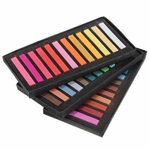 Gearmax® Hair Chalks - 36 tinte per capelli temporanee non tossiche in pastello morbido