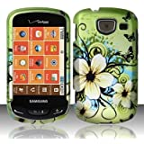 For Verizon Samsung Brightside U380 Accessory - Green Hawaii Flower Design Case Protective Cover