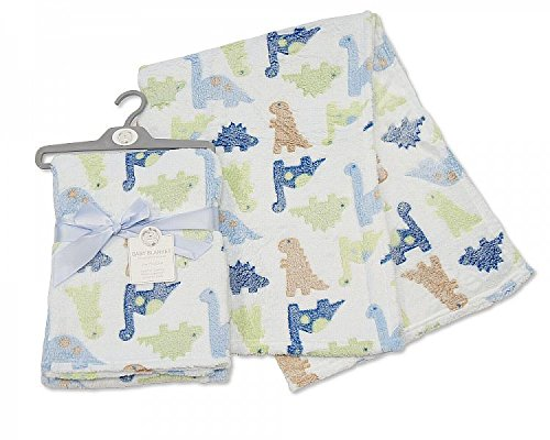 Brand-New-Supersoft-Fleece-Baby-Snuggle-Blanket-in-Blue-with-Cute-Dinosaurs-Lovely-Gift