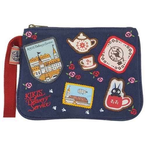 Majo Kiki and Jiji [porch] patch flat pouch / souvenir Ghibli