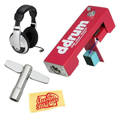 Ddrum Tk Acoustic Protrigger For Kick Drum Bundle With Headphones, Drum Key, And Polishing Cloth