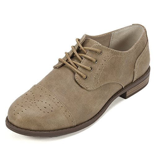 White Mountain Women's Saint Oxford, Tan Fabric, 8.5 M US