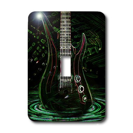 Lsp_109245_1 Florene Music - Fun Electric Neon Rock Guitar - Light Switch Covers - Single Toggle Switch