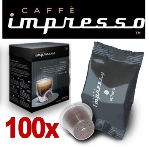 Get 100 x Caffè Impresso Nespresso ® Compatible Coffee Capsules / Pods Milano Espresso from Espresso Capsule Company