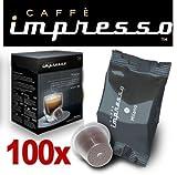 100 x Caffè Impresso Nespresso ® Compatible Coffee Capsules / Pods Milano Espresso