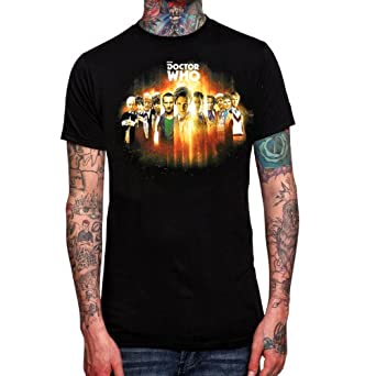 Official BBC Doctor Who 50th Anniversary 11 Doctors Adult T-Shirt (Small)