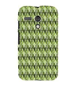 Green Leafs Autumn Cute Fashion 3D Hard Polycarbonate Designer Back Case Cover for Motorola Moto G :: Motorola Moto G (1St Gen)
