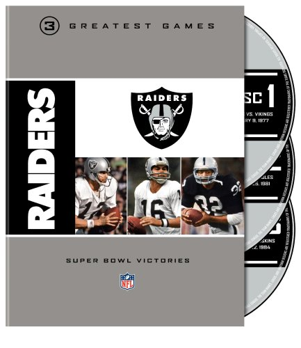 NFL Oakland Raiders 3 Greatest Games: Super Bowl [DVD] [Region 1] [US Import] [NTSC]