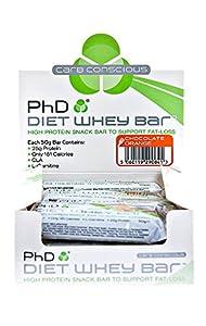 PhD Diet Whey Bar Chocolate Orange 50 g (Pack of 12)