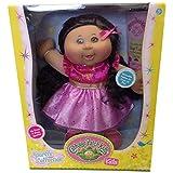 Cabbage Patch Kids Sparkle Collection Girl Dark Brunette Pink Dress