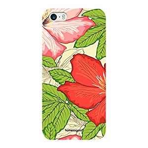 HomeSoGood Tropical Vintage Multicolor Floral 3D Mobile Case For iPhone 5 / 5S (Back Cover)