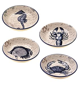Certified International Coastal Postcards Soup Pasta Bowl, 9.25-Inch, Assorted Designs,... by Certified International