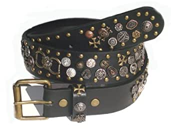 BeltsandStuds Goth Punk Ultimate Studded Snap on Belt XXL 44 Bronze
