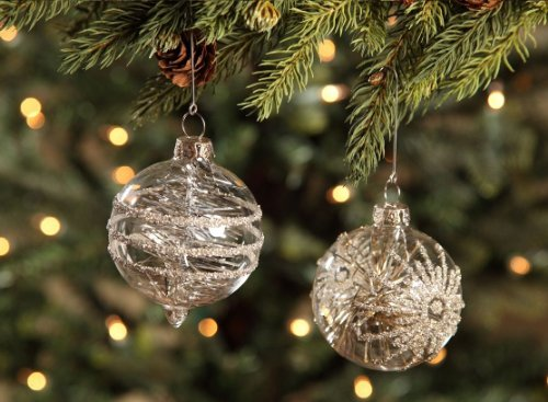 Bethany Lowe Christmas Vintage-like Tinsel Ornaments Set of 2 LG1736
