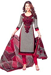 Aasri Womens Cotton Unstitched Salwar Suit Dress Material (Asg-421 _Multi-Coloured _Free Size)