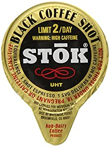 SToK Caffeinated Black Coffee Shots, 264-Count Single-Serve Packages