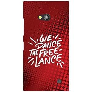 Nokia Lumia 730 Back Cover - Dance Free Designer Cases