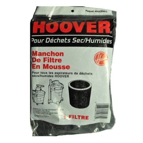 Hoover Wet/Dry Vac Cleaner Foam Filter (Hoover 40203001 compare prices)