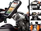 M8 Bolt Motorcycle Top Clamp Handlebar Mount Attachment with Water Resistant Case for HTC One X
