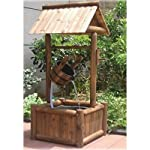 Wooden Garden Wishing Well Fountain