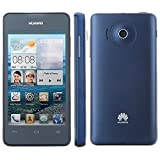 Huawei Ascend Y300 SIM Free Smartphone 3G 4.0 Inch Android 4.1 MSM8225 Dual Core 512MB + 4GB WCDMA GSM Dual SIM 5MP Back Camera (Navy Blue)