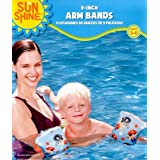 "9"" Swimming Arm Bands For Kids - Arm Floats. Pirates"