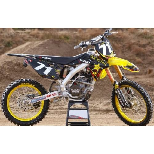 2011 ONE INDUSTRIES ROCKSTAR ENERGY SUZUKI GRAPHICS SEAT RMZ 250 10-12
