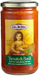 Gia Russa Tomato & Basil Pasta Sauce, 24-Ounce Glass Jars (Pack of 3)