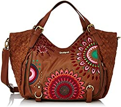 Desigual Rotterdam, Sac porté main - Marron (6091 Leather Brown), Taille Unique