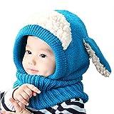 Malloom® 1PC Winter Baby Kids Girls Boys Warm Woolen Coif Hood Scarf Caps Hats (Blue)