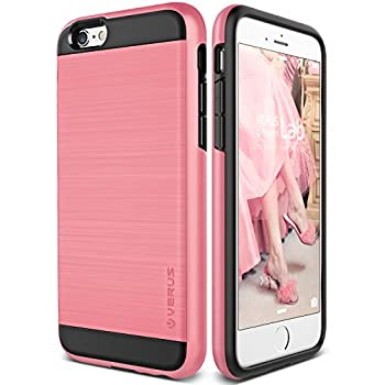 09. Verus [Verge][Rose Pink] - [Brushed Metal Texture][Heavy Duty][Maximum Drop Protection][Slim Fit]