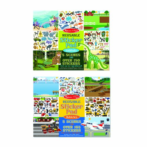 Melissa & Doug Vehicles and Habitats Reusable Bundle Sticker Pad