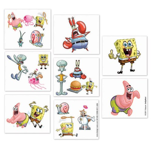 Amscan 222692 Spongebob Squarepants Tattoos - 1