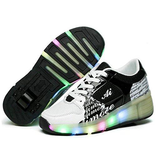 Nios-Nia-de-adultos-LED-luz-para-patines-zapatos-con-una-rueda-intermitente-Zapatillas