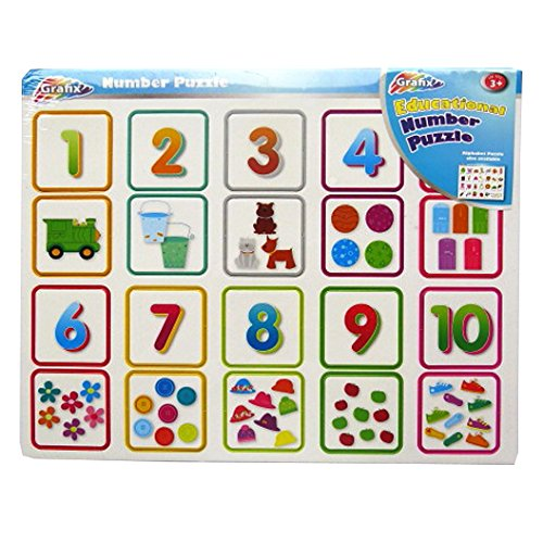 Educational Number Puzzle - 20 Piece - Size 14' X 11' - 1