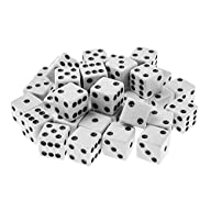Standard 16mm White Dice with Black P…