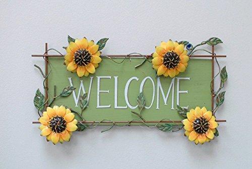 Metla Sunflower Welcome Decorative sign 17