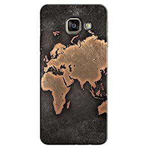 ANTIQUE WORLD MAP BACK COVER SAMSUNG GALAXY A9