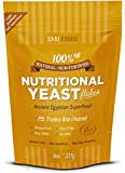 Non-Fortified Nutritional Yeast Flakes by Sari Foods - 8 oz. - All Vitamins & Nutrients are Non-Synthetic & 100% Naturally Occurring - Prioritize Your Health with this Delicious Superfood - Great Low Sodium Salt Substitute Packed with Vitamins, Minerals, Fiber and Protein
