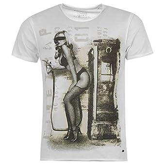 Firetrap Mens Pump T Shirt Mens White XS